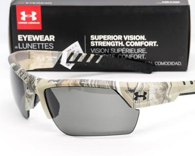 141a02a2352 NEW UA UNDER ARMOUR IGNITER 2.0 SUNGLASSES Satin Realtree Camo frame   Gray  lens