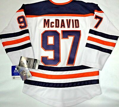 NWT CONNOR McDAVID EDMONTON OILERS YOUTH S M NHL PREMIER JERSEY STITCHED   130 708606ce0