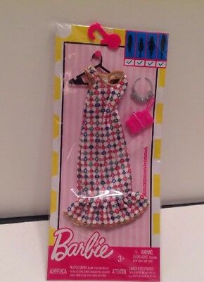 New in Pkg- Barbie Mattel - Dress w/ necklace and purse