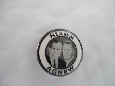 Presidential Richard Nixon Pin Back Button Spiro Agnew President Campaign 1968