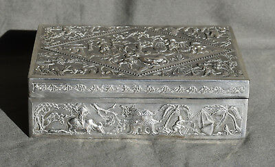 Large Antique Chinese Export Silver Box