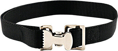 10 - Alligator Clip Nylon Tie Down Straps - Black - 6 Feet