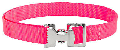4 - Alligator Clip Nylon Tie Down Straps - Hot Pink - 6 Feet