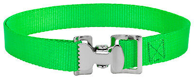 4 - Alligator Clip Nylon Tie Down Straps - Hot Green - 8 Feet