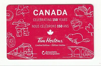 Tim Hortons CANADA 150 years bilingual gift card Canada 2017 NO VALUE