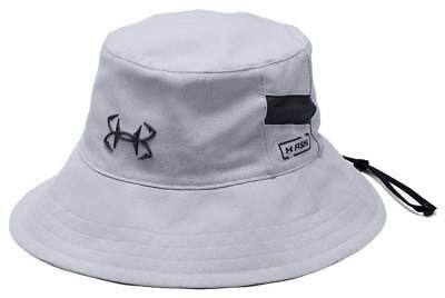 Under Armour CoolSwitch AmourVent Fish Bucket Hat - Mod Grey - New 41e3eaefce81
