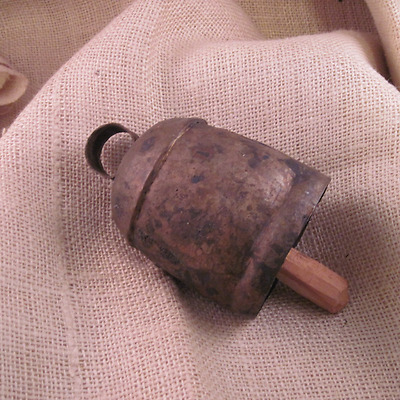 Antique Hand Forged Bell - Vintage Copper Rustic Decor Primitive
