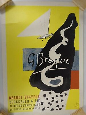 Georges Braque Graveur Berggruen and Cie 1953 Art Exhibit Poster