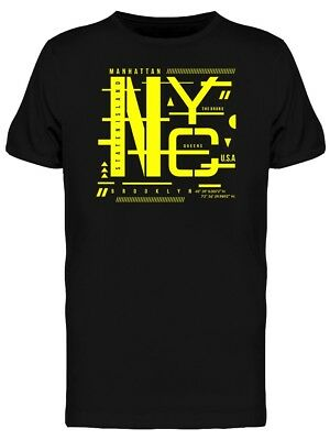 New York Futuristic Street Art Men's Tee -Image by Shutterstock