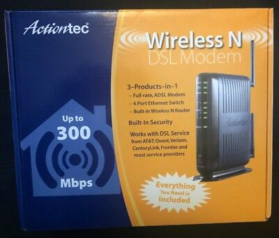 ACTIONTEC WIRELESS DSL Modem Model GT724WGR - $34 00 | PicClick