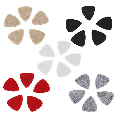 5 Pcs Soft Hard Ukulele Wool Felt Picks Mandolin Guitar Plectrums M9Z7