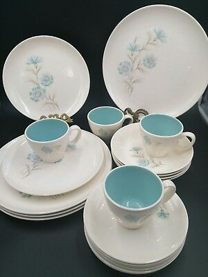 20 piece Vintage Taylor Smith Ever Yours Boutonniere Dinnerware
