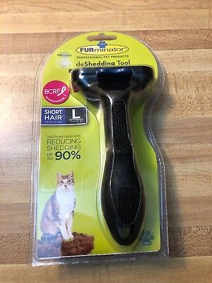 Authentic Furminator Large Cat Short Hair Deshedding Tool Black Over 10 Lbs