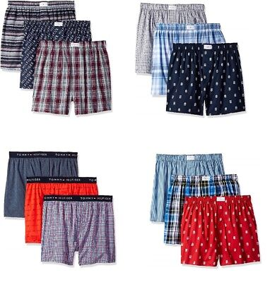 NWT Men's Tommy Hilfiger Pack of Three 3 Individual Woven Cotton Boxer Boxers
