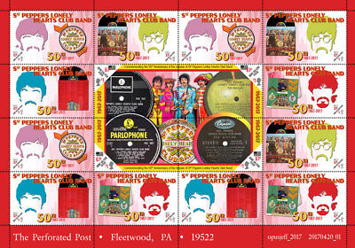 Beatles - Sgt. Pepper's Tribute  (Artistamp, Faux Postage, REPRO)