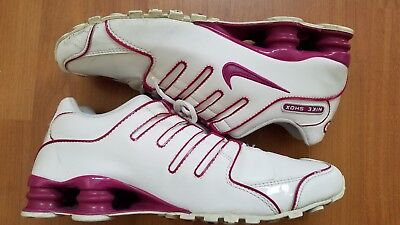 NIKE Shox NZ Women s Running Shoes Size 10 White Rave Pink 314561-196 276251639ad80