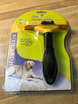 Authentic Furminator Large Dog Short Hair Deshedding Tool Yellow 51-90 Lbs