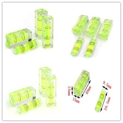5x Mini Bubble Spirit Level Vial Measuring Instrument Square or Cylindrical 40mm