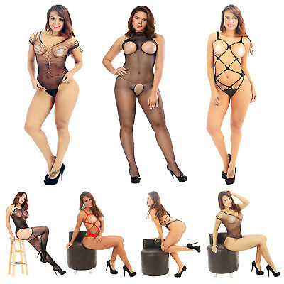 Women Sexy Lingerie Body Stocking Sleepwear Babydoll Crotchless G-string Thongs