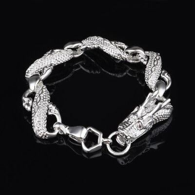 925 Sterling Solid Silver Bangle Bracelet Chain For Women Men Jewelry Gifts