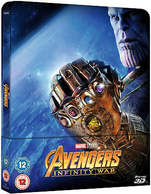Marvel - Avengers: Infinity War 3D - Blu-ray  - Limited Edition Steelbook OOP