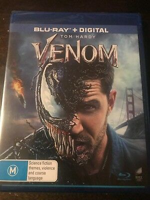 Venom Blu-Ray + Digital New & Sealed Region B 2018 (Tom Hardy)