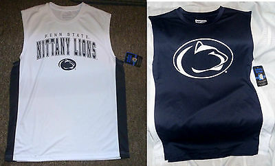 $28 Penn State Nittany Lions WHITE out Tank Jersey or NAVY Logo Shirt Mens XL-L
