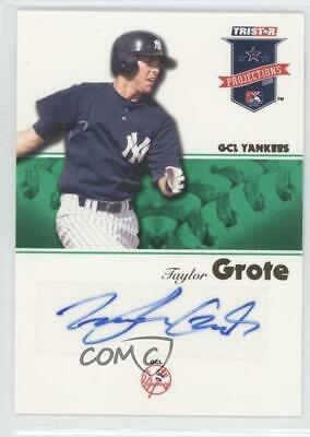 2008 TRISTAR PROjections Green Autographs Autographed #6 Taylor Grote Auto Card