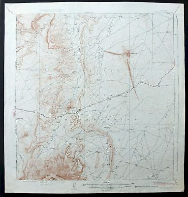Ship Rock New Mexico Vintage 1937 USGS Topo Map Shiprock 15-minute Topographic