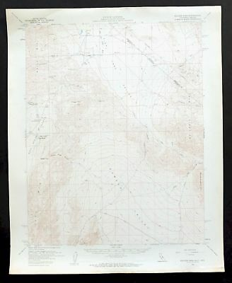 Soldier Pass California Vintage USGS Topo Map 1958 Death Valley National Park