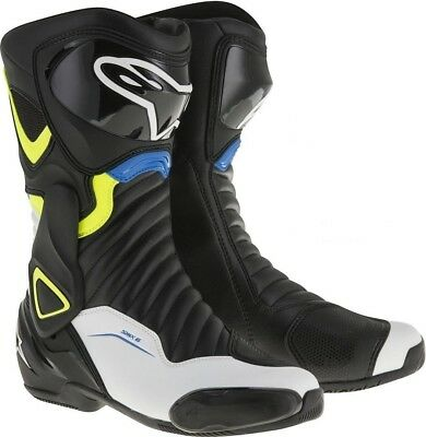 Alpinestars SMX-6 V2  Black / White / Fluo Yellow / Blue  30%OFF SALE All Sizes