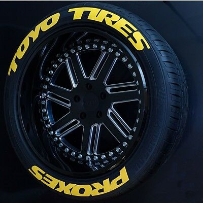 Tire Lettering toyo tires stickers kit Yellow-1.0'-15''16''17''18''19'20 (8 KİT)