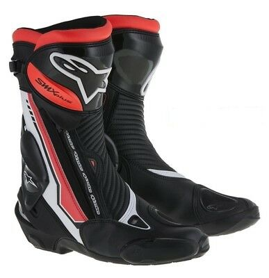 Alpinestars SMX-PLUS Red Fluo Motorcycle Racing Boots More Than 30% OFF SALE!!!!
