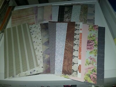 20X Scrapbooking Paper/cardboard For Making Cards/2 Side/ 30X15 Cm New (A45)