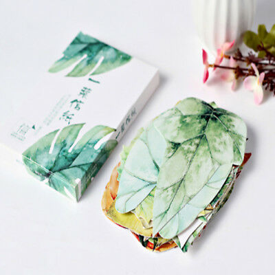 30Pcs Creative Leaves Shape Postcard Bookmark Wall Decor Post Message Cards Gift