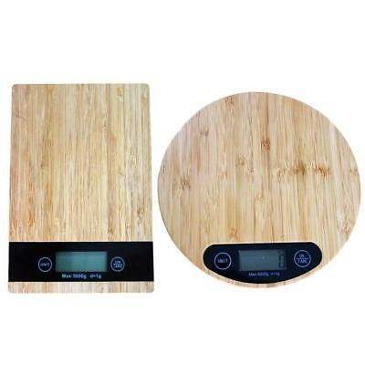 Wooden Electronic Scale 5kg Kitchen Food Weight LCD Digital Scales Baking Tools