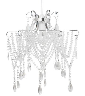 Modern Luxury Glam Jewelled Easy Fit Ceiling Light Shade Chandelier