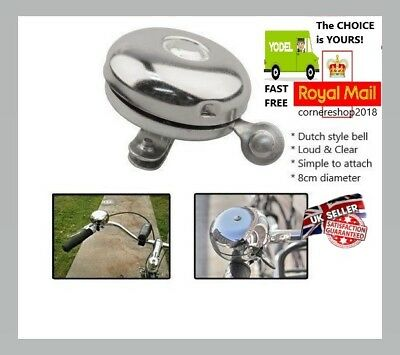 TRADITIONAL LARGE LOUD RETRO ROUND DUTCH BIKE CYCLE BICYCLE DING DONG BELL