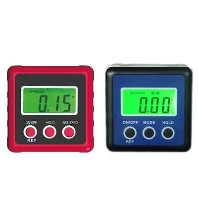 Digital LCD Protractor Angle Finder Bevel Level Box Inclinometer Gauge Tools