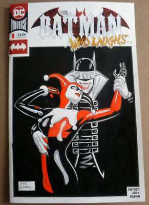 BATMAN WHO LAUGHS 1 BLANK SKETCH VARIANT EDITION RARE LOW PRINT HOT NM//M JOKER