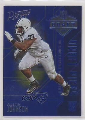 2016 Panini Prestige Draft Picks Blue 25 Austin Johnson Penn State Nittany Lions