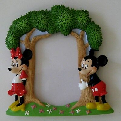 DISNEY PICTURE FRAME - MICKEY, MINNIE MOUSE,1990s Vintage, Cast Member, Cute!