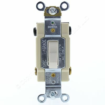 Cooper Lt Almond 4-Way COMMERCIAL Toggle Wall Light Switch 15A 120/277V CSB415LA