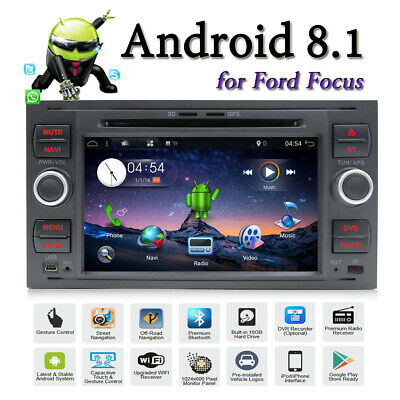 for Ford Focus C-Max Fusion Transit Fiesta Galaxy Android Car Stereo GPS Radio