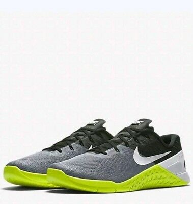 736f6c9841f Nike Metcon 3 Training Men s Shoes Grey Black Volt White 852928-001 mens sz  10