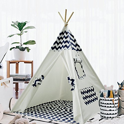 Teepee Tent for Kids Teepee Play Tent Mat for Boys Indoor Outdoor Play House Tee