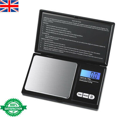 0.01g - 100g Weighing Electronic Mini scale Jewellery Gold Pocket Size Mini UK