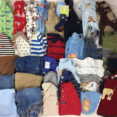 HUGE 36 pc BABY BOY Winter Clothes Lot 3-6m 6m Complete Outfits EUC Gap Carter's