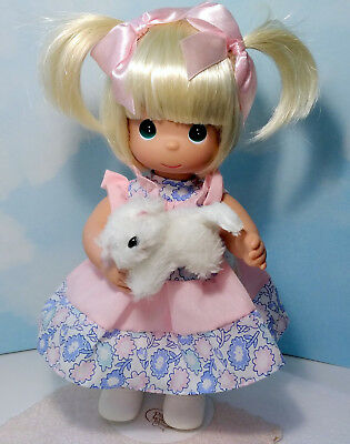"PRECIOUS MOMENTS BLONDE DOLL ~ Kitten 12"" w/ Stand ~ FUR-EVER FRIENDS ~  # 4669"