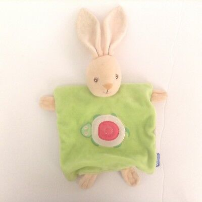 Kaloo Bunny Security Blanket Hand Puppet Lovey Green Turtle